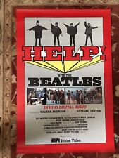 THE BEATLES  Help  rare promotional poster from 1987