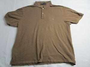 Men's 3XB Short Sleeve Polo Ralph Lauren Polo - Brown