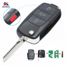 Flip Key Remote Keyless Entry Transmitter 315MHz for Volkswagen HLO1K0959753H