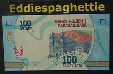 MADAGASCAR 100 ARIARY 2017 NEW DESIGN UNC PNEW