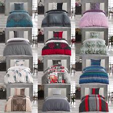 Renforce Baumwolle Bettwäsche 2 tlg Set 135x200 155x220 Bettbezug Reißverschluss