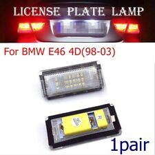 1pair For BMW E46 4D(98-03) Replace License Plate Light Lamp Bulb 6500K 18 LED