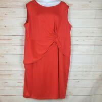 New! Avon Sleeveless Faux Wrap Red Plus Size Dress 1X
