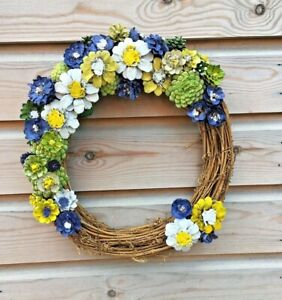 Luxury Spring Wreath   Made Entirely From Pine Cones  Crafted in Gloucestershire