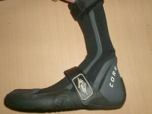 neoprene boots surf fishing rip curl core hiden split toe  3mm  size 7 new