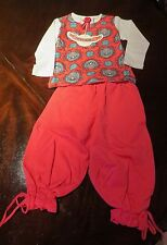 NWT Paper Wings Girl Wise Owl Tee Raspberry Puff velour Pants Size 5 Fall Winter
