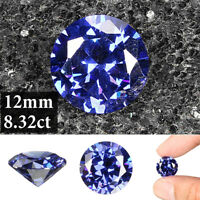 8.32ct AAAA+ Quality Loose Gemstone Unheated Royal Blue Tanzanite 12mm Round