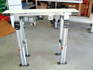 "Dorner Conveyor 2200 Series 262M10 Flat Belt 4' x 10"" eDrive w/ motor & reducer"