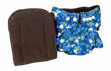 Pandaroos Winter Cloth Diaper Cover Charcoal Bamboo Insert, Reindeer/ Snowflakes
