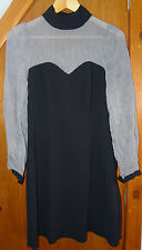 Peaches Black and Grey Dress 10