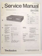 Technics Original Service Manual SH-E66 Equalizer