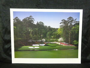 Danny Day Hole #12 at Augusta Masters Limited Edition Golf Lithograph