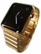 24k chapado en oro 42mm Apple Reloj Series 3 Moderno Enlace Bandas gps-cellular