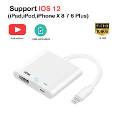 Lightning To HDMI Digital AV TV Cable Adapter For Apple iPad,iPhone X 8 7 6 Plus