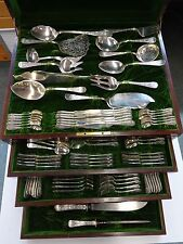 Sheraton by Mount Vernon Sterling Silver Flatware Set Fitted Chest 241 Pcs Huge!