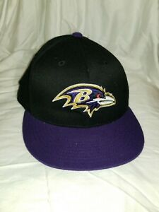 NFL Team Baltimore Ravens A10 Fitted 6 7/8 7 1/4 Black Purple