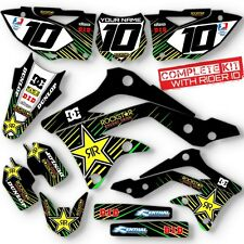 2012 KXF 450 GRAPHIC KIT KAWASAKI KX450F BLACK ROCKSTAR DIRT BIKE DECALS
