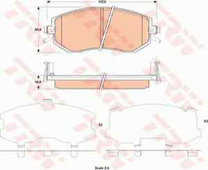 TRW FRONT BRAKE PADS GDB3519 FOR SUBARU 86 TOYOTA BRZ
