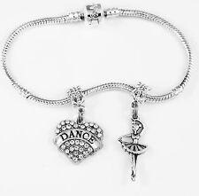 Dance Ballet Bracelet Ballet Dancer Gift Dancer Present Dance 2 piece charms