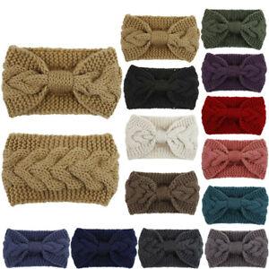 Girl Winter Knitted Headband Knot Crochet Hair Warm Wrap Womens Turban Hairband