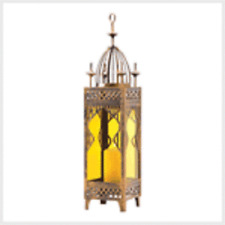 Palace Candle Holder Lantern Metal and Multi-Color