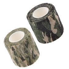 2 Pieces Camo Wrap Tape Rifle Gun Shooting Camouflage   Webbing Tape
