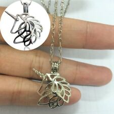 Women Unicorn Head Pendant Hollow Out Chain Necklace Jewelry Gift Silver Plated