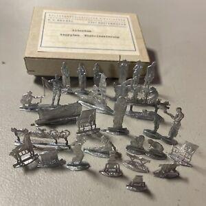 F.C. Neckel Zinnfiguren Ancient Egypt Embalming 21 Tin Flats Ludwig Frank