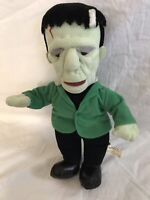 "Vintage Universal Studios Frankenstein Rare 13"" Plush Stuffed Toy Nanco 1990s"