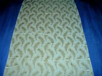 Vintage 30s 40s feather jacquard weave yellow fabric curtain length