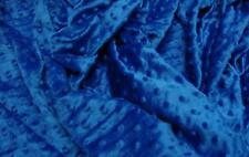"MINKY DIMPLE DOT FABRIC ROYAL 60"" WIDTH SOFT BABY SEW SOLD BY THE YARD"