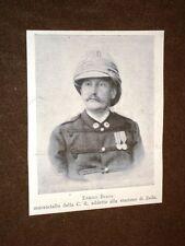 Enrico Biada nel 1897 Maresciallo della Croce Rossa d'Italia