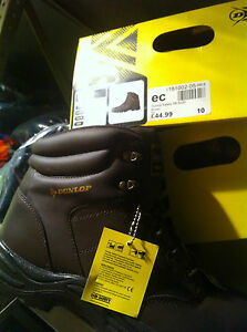 BLACK DUNLOP Safety Boots- black - Size 10 comfort and safety