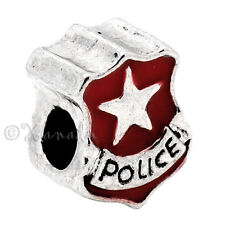 Police Badge European Bead For European Charm Bracelet And Necklace Chains