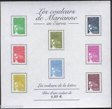STAMP / TIMBRE FRANCE NEUF BLOC N° 67 ** LES COULEURS DE MARIANNES EN EUROS