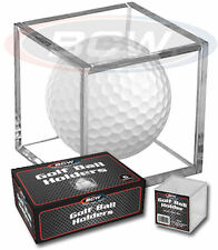 (6) Golf Ball Display Case Stackable Square Cube Holder Stand by BCW