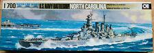 USS NORTH CAROLINA BB-55 MODEL KIT, AOSHIMA WATER LINE SERIES, 1/700, VINTAGE