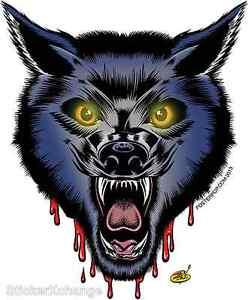 Blood Wolf Sticker Decal Dirty Donny DD54 Werewolf