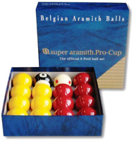 Aramith Pro Cup Red and Yellow 2 Inch Ball Set - Tournament Quality Ball Set