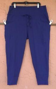 FABLETICS Womens Size XXL Capri BLUISH PURPLE  Crop Stretch Yoga Pants POCKETS