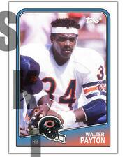 1988 Stcc #398 Topps Walter Payton Chicago Bears Jackson State Custom Hof
