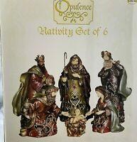 Nativity Scene by Opulence 6 piece set New in Box Resin Christmas Decor Holiday