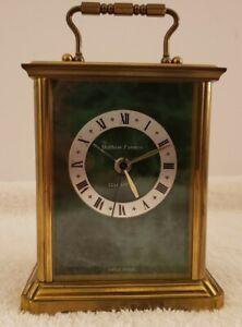 Vintage Working Matthew Norman Brass Victorian Carriage Kundo Quartz Alarm Clock