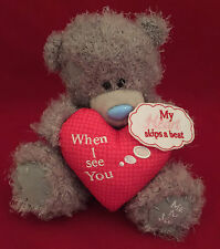 "ME TO YOU BEAR TATTY TEDDY 8"" WHEN I SEE YOU MY HEART SKIPS A BEAR BEAR GIFT"