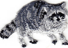 RACCOON - FOREST ANIMAL - ZOO - IRON ON EMBROIDERED PATCH - WILD ANIMALS