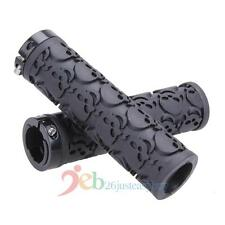 Skull Sponge Black MTB Mountain Bike Bicycle Lock-on Handlebar Grips Handle Bar