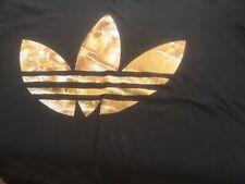 adidas T-Shirt Black and gold logo xl