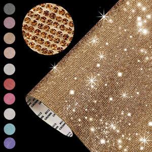Rhinestone Sheet Crystal Sticker Bling Paster Glitter Trim Applique Home Decor
