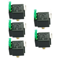 5 X 12V 30A Car Automotive Heavy Duty Relay 4Pin Fuse Fused On/Off SPST Metal
