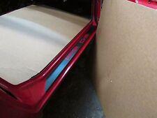 CUSTOM Porsche 924, 944, 968 Black Textured Door Sill Paint guard STICKER set.